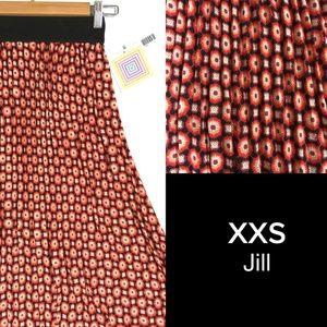 XXS thru XS Jill Pleated Midi Skirt by LuLaRoe